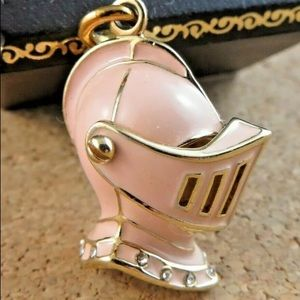 Rare Juicy Couture pink Knight helmet charm